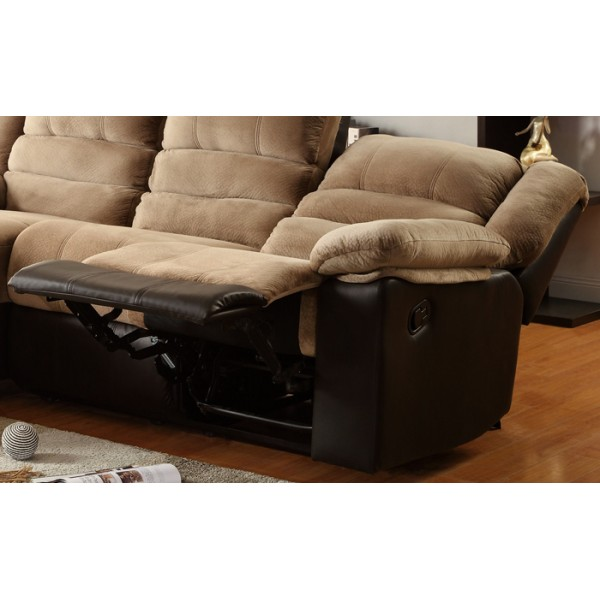 Sectional Sofa With One Reclining Seat And Chaise Lounge