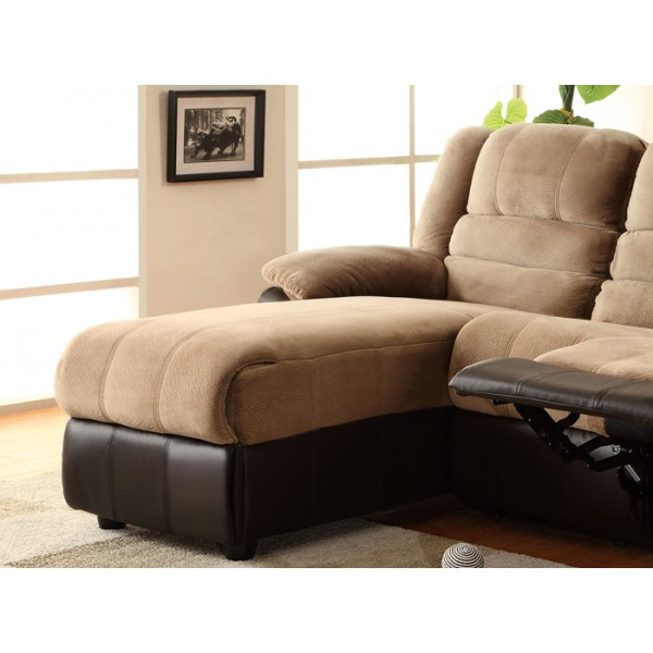 Sofa with e Reclining Seat and Chaise Lounge