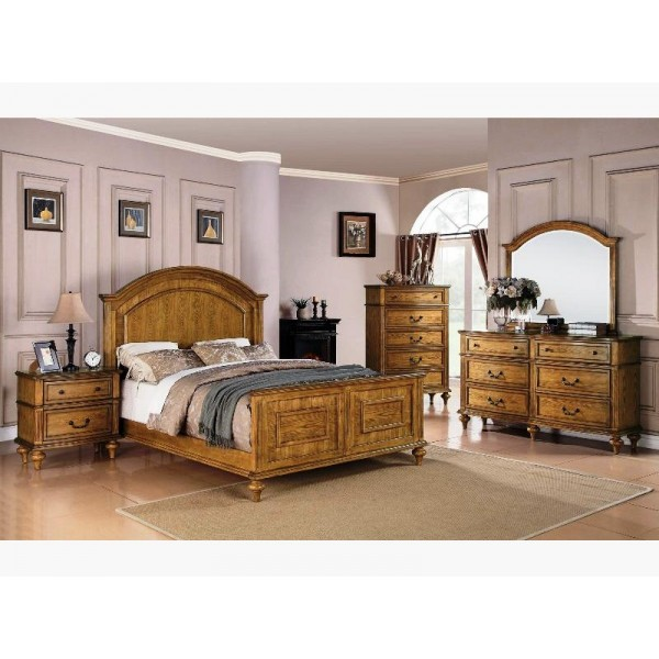 bedroom furniture miami emily oak bedroom 4 pcs 10466